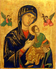 The restored icon of Our Mother of Perpetual Help