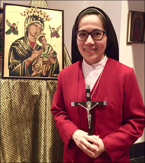 Sr. Maria Celeste, O.Ss.R., who was selected to serve as Novice Mistress at the Most Holy Redeemer Monastery in Maitland, New South Wales.